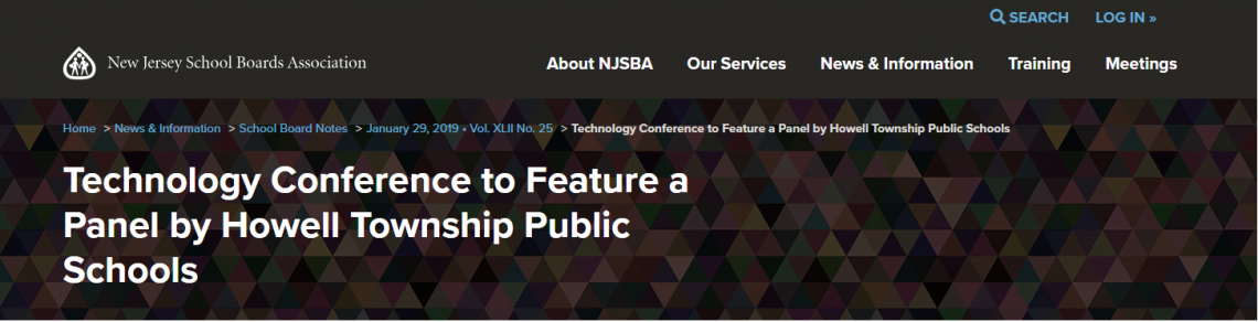 NJSBA - Technology Conference to Feature a Panel by Howell Township Public Schools